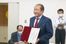 小田原市長当選証書授与